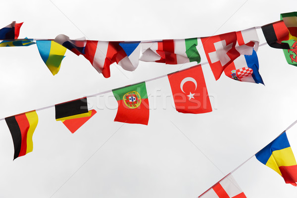 Photo stock: Internationaux · drapeaux · guirlande · décoration