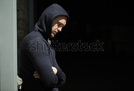 Közelkép szenvedélybeteg férfi utca szerhasználat függőség Stock fotó © dolgachov
