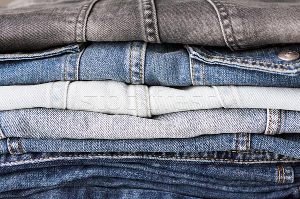 джинсовой одежды джинсов носить Сток-фото © dolgachov