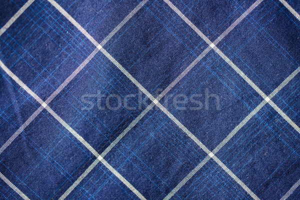 close up of checkered textile or fabric background Stock photo © dolgachov