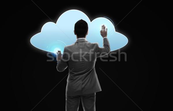 ビジネスマン 作業 バーチャル 雲 投影 ビジネスの方々 ストックフォト © dolgachov