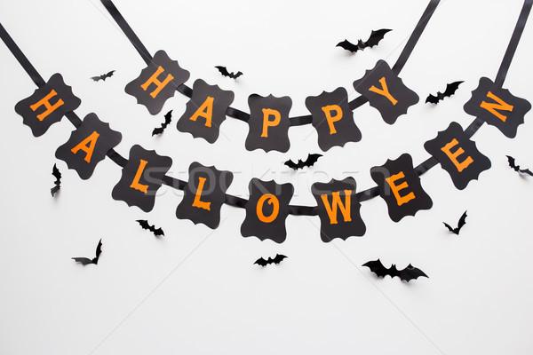 счастливым Хэллоуин вечеринка гирлянда украшение праздников Сток-фото © dolgachov