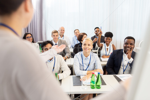 group of people at business conference or lecture Stock photo © dolgachov