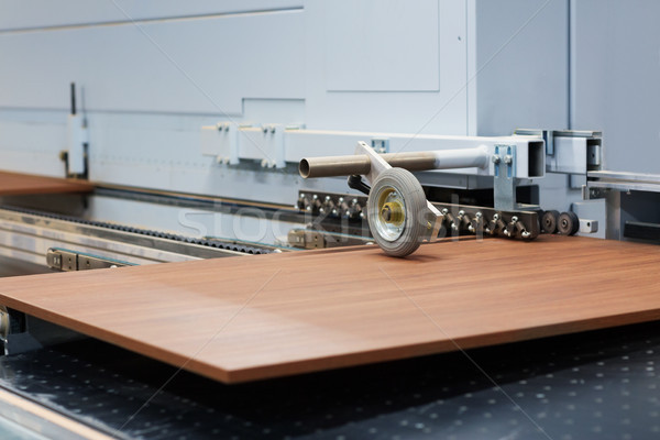 wooden board on conveyer at furniture factory Stock photo © dolgachov