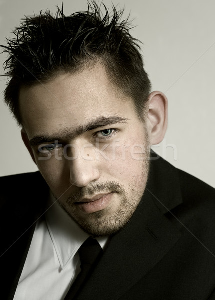 Masculin portrait visage homme blanche propre Photo stock © dolgachov