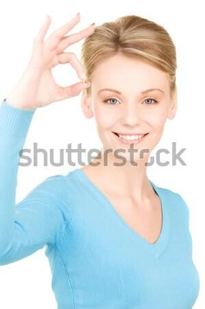 Mulher abrir mão pronto aperto de mão negócio Foto stock © dolgachov