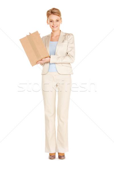 привлекательный деловая женщина фотография женщину окна Сток-фото © dolgachov