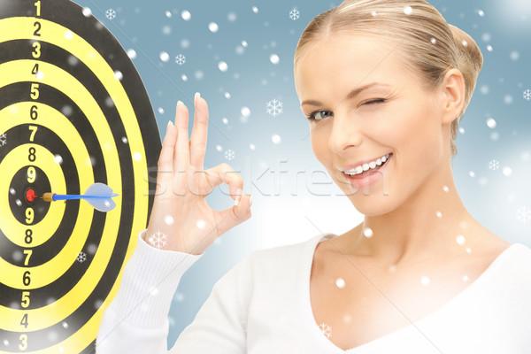 女性実業家 ダーツ ターゲット 明るい 画像 女性 ストックフォト © dolgachov