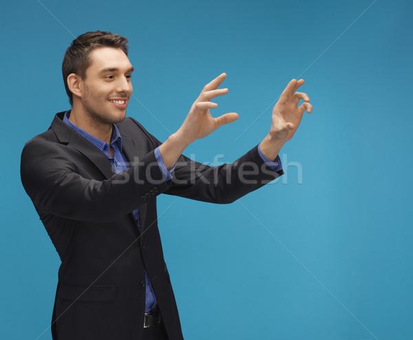 男 スーツ 作業 虚数 画像 ストックフォト © dolgachov