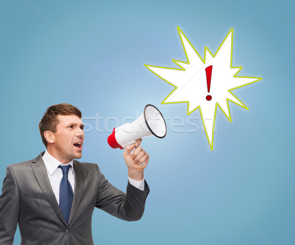 buisnessman with bullhorn or megaphone Stock photo © dolgachov
