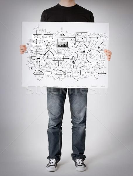 Сток-фото: человека · большой · плана · бизнеса