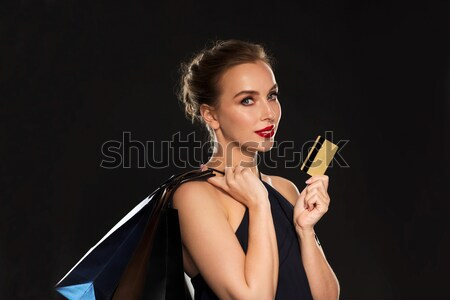 женщину вечернее платье vip карт красивая женщина вечеринка Сток-фото © dolgachov