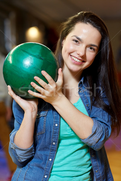 счастливым мяча боулинг клуба Сток-фото © dolgachov