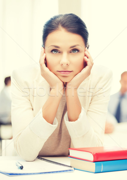stressed businesswoman in office Stock photo © dolgachov