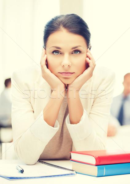 Kobieta interesu biuro działalności edukacji student Zdjęcia stock © dolgachov