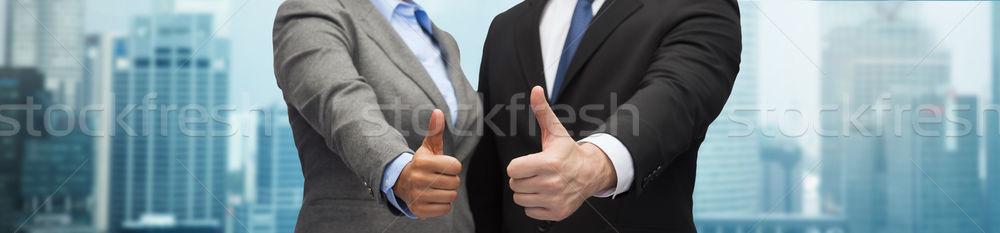 Zdjęcia stock: Biznesmen · kobieta · interesu · ludzi · biznesu · współpraca