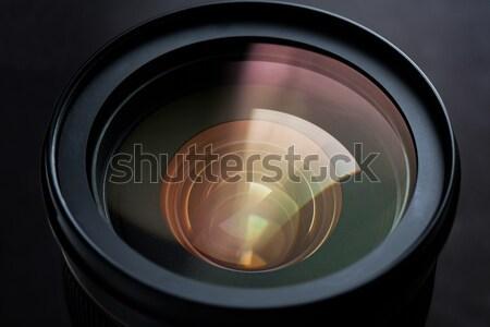 close up of camera lens Stock photo © dolgachov