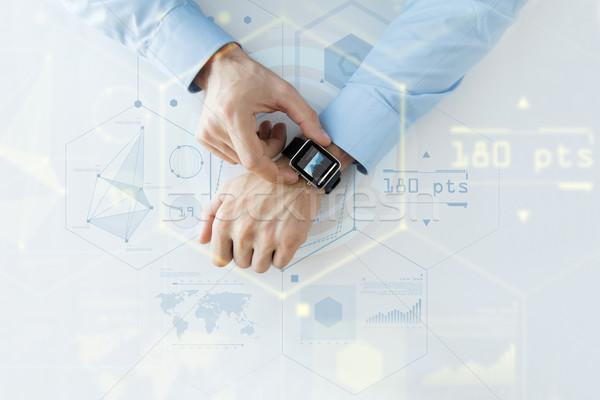стороны виртуальный экране проекция бизнеса будущем Сток-фото © dolgachov
