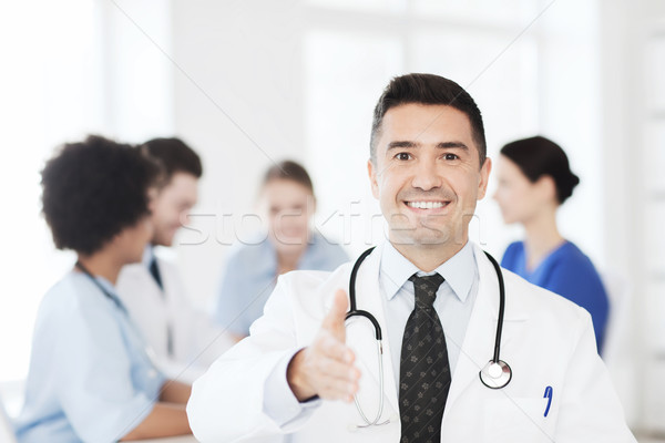 Gelukkig arts groep ziekenhuis kliniek beroep Stockfoto © dolgachov