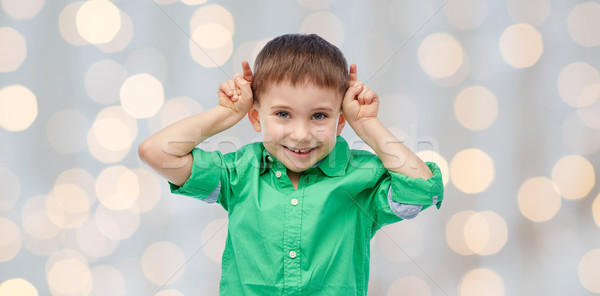 Feliz pequeño nino Foto stock © dolgachov