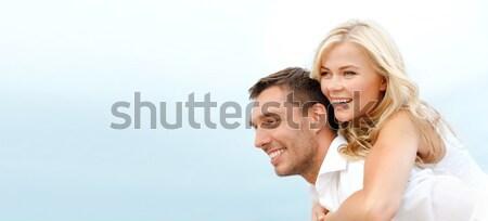 Casal beira-mar verão férias celebração namoro Foto stock © dolgachov