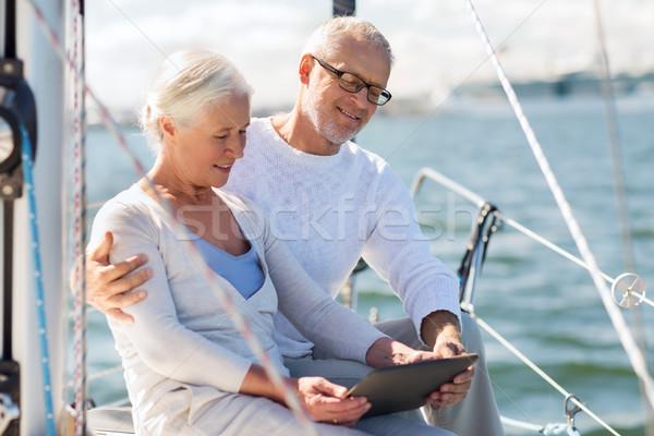帆 ボート ヨット セーリング ストックフォト © dolgachov