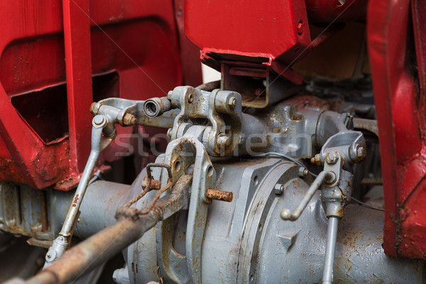 close up of vintage car hoist mechanism Stock photo © dolgachov