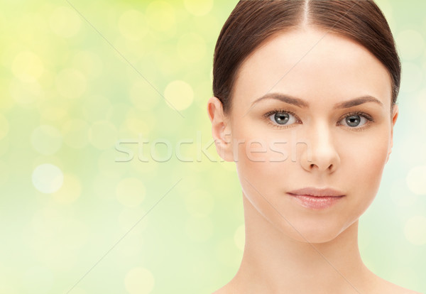 close up of beautiful young woman face Stock photo © dolgachov