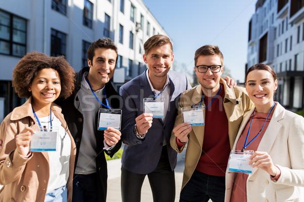 бизнес-команды конференции жетоны город бизнеса образование Сток-фото © dolgachov