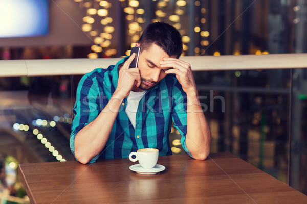Adam kahve restoran boş teknoloji Stok fotoğraf © dolgachov