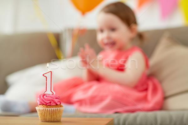 Cumpleanos nino uno año aniversario Foto stock © dolgachov