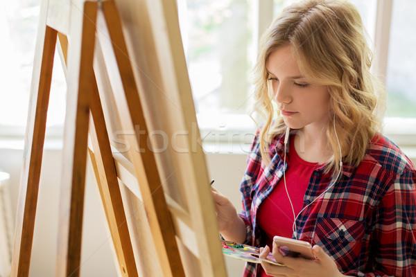 Zdjęcia stock: Smartphone · sztuki · szkoły · studio · technologii