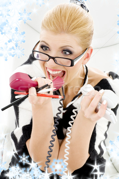 screaming businesswoman Stock photo © dolgachov