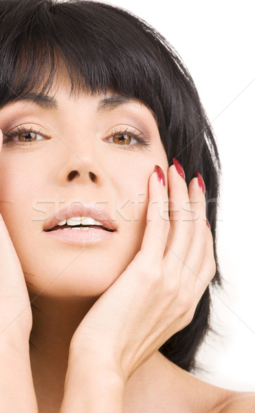 自然の美 明るい 画像 ブルネット 白 女性 ストックフォト © dolgachov