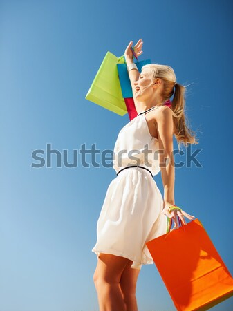 Stockfoto: Vrouw · bikini · zonnebril · foto · mooie · vrouw · gelukkig