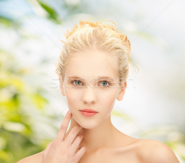 Stock photo: clean face of beautiful girl