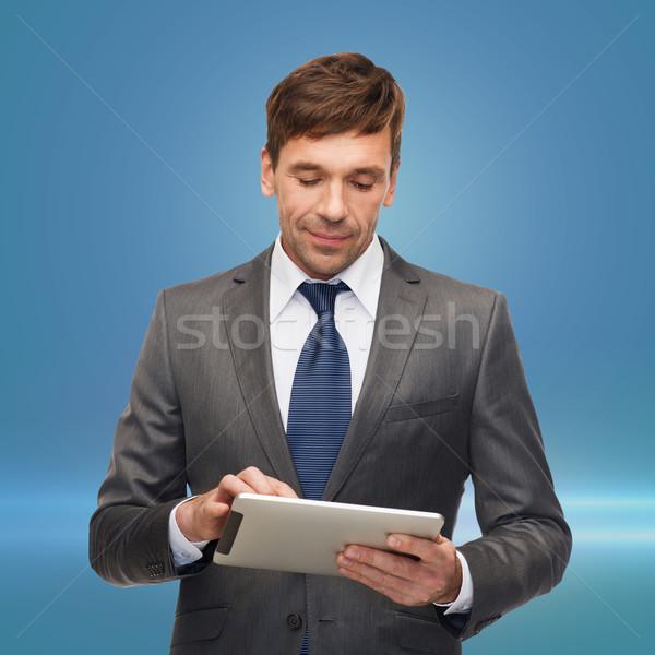 Táblagép üzlet kommunikáció modern technológia iroda Stock fotó © dolgachov