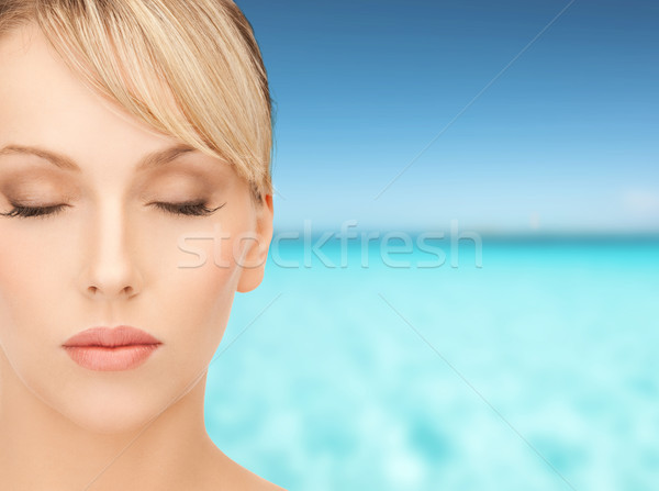 beautiful woman with blonde hair Stock photo © dolgachov