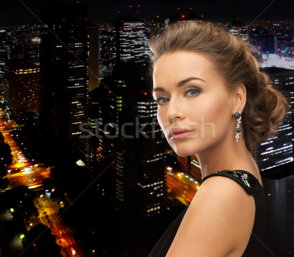 woman with diamond earrings Stock photo © dolgachov