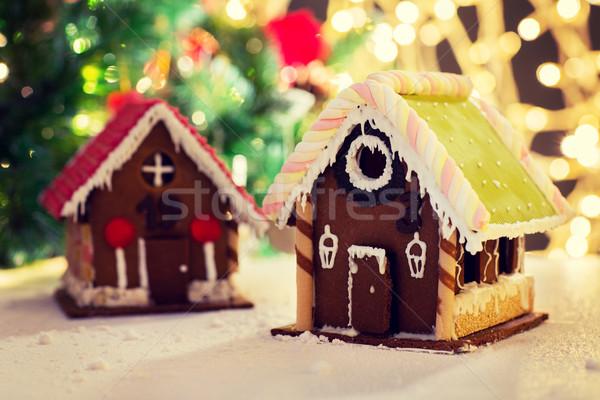 Primo piano bella pan di zenzero casa home vacanze Foto d'archivio © dolgachov