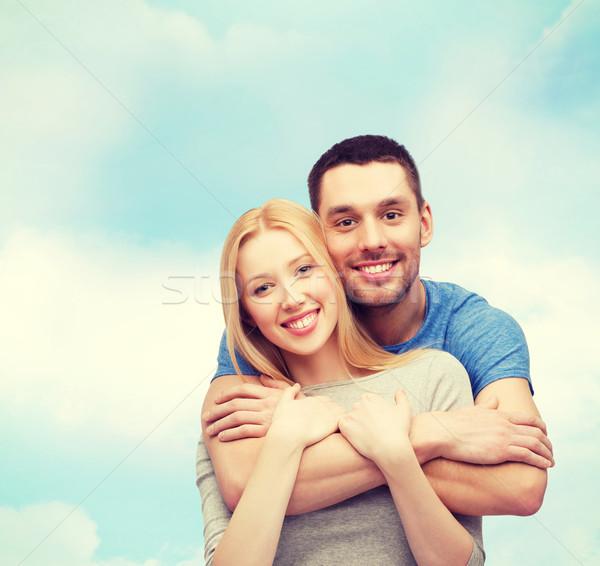 улыбаясь пару любви семьи небе Сток-фото © dolgachov