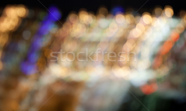 colorful bright lights on dark night background Stock photo © dolgachov