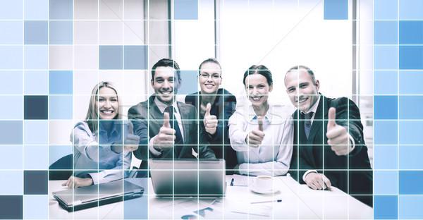 Foto stock: Equipo · de · negocios · oficina · negocios · éxito