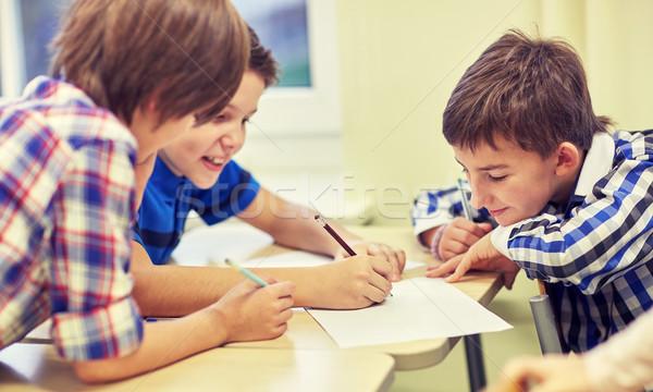 Stok fotoğraf: Grup · yazı · çizim · okul · eğitim