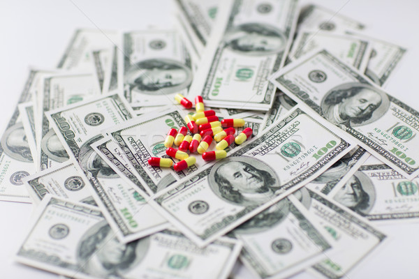 medical pills or drugs and dollar cash money Stock photo © dolgachov