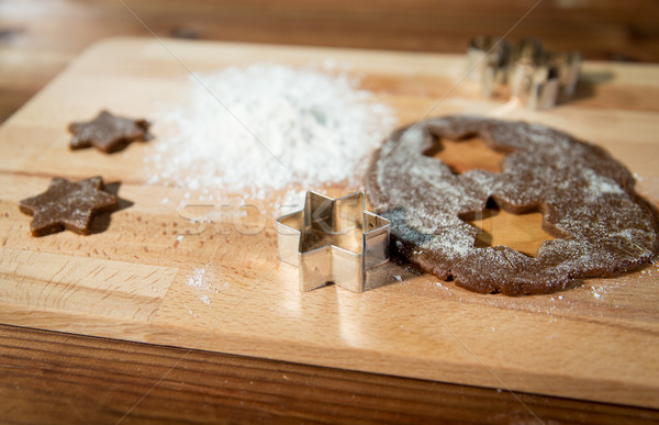 Gingembre farine bord cuisson Photo stock © dolgachov