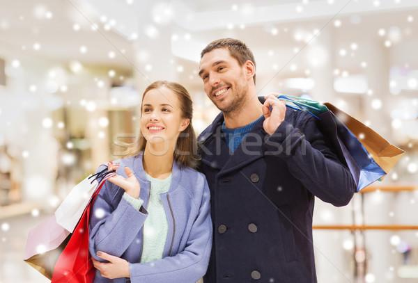 счастливым Mall продажи Сток-фото © dolgachov