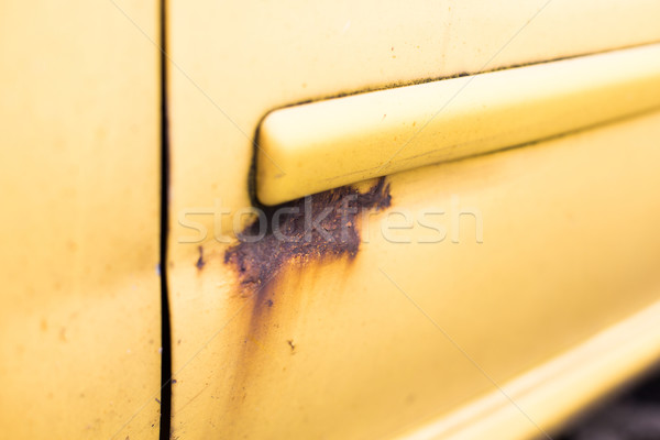 close up of rusty car door surface Stock photo © dolgachov