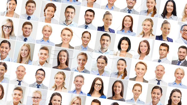collage with many business people portraits Stock photo © dolgachov