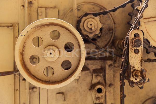 vintage machine mechanism at factory Stock photo © dolgachov